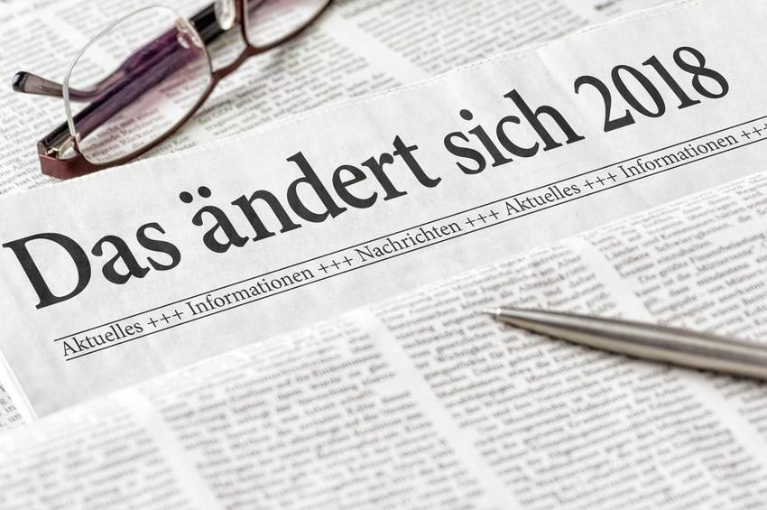 Neue Gesetze 2018